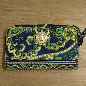 Vera Bradley Rhythm & Blues Turn Lock Wallet